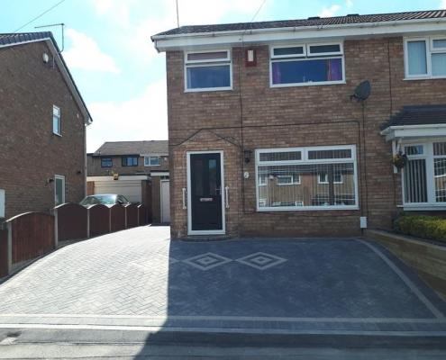 New Block Paving Driveway - Burton upon Trent
