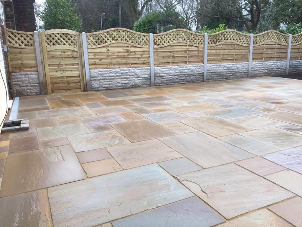 indian sandstone patio Loughborough