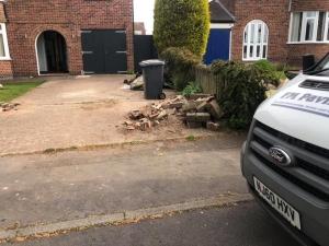 cobblestone driveway in Ashby-De-La-Zouch
