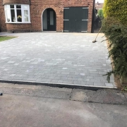 completed cobblestone driveway
